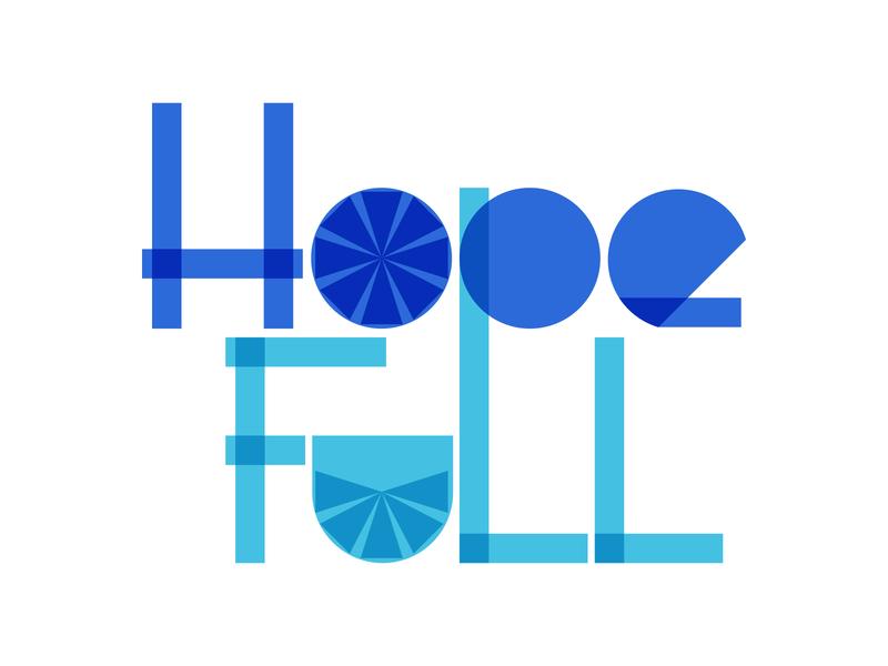 Hope Full | Podcast Mark podcast hopeful hope typography design blue logo illustration vector