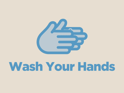 Wash Your Hands bubbles wash hands animation blue illustration vector