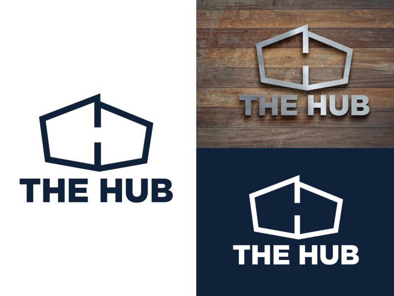 The HUB | Student Ministry church design student ministry church icon badge branding blue illustration vector logo design logo