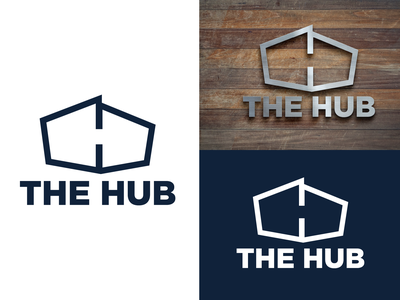 The HUB | Student Ministry church design student ministry church icon badge branding blue illustration vector logo design logo