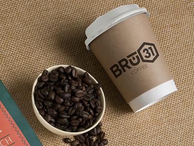 Bru31 Coffee student ministry church coffeeshop coffee cup coffee branding design illustration logo vector