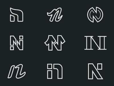 Letter N Exploration letter n branding logo illustration vector