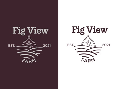 Fig View Farm purple farm fig icon branding design logo vector