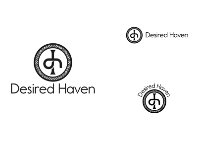 Desired Haven Logo icon cross celtic cross design logo vector