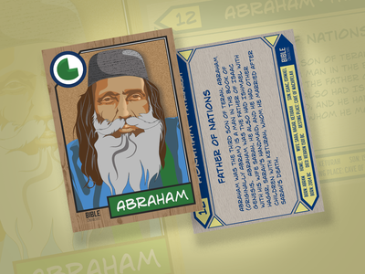 Bible Character Trading Card | Abraham card design trading card card design illustration vector