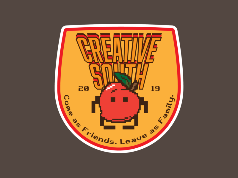 Creative South 19 - Space Invaders bitmap pixelate illustrator cc space invaders orange badge conference creative south vector illuatration