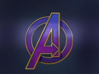 Avenger Logo purple procreate logo avengers
