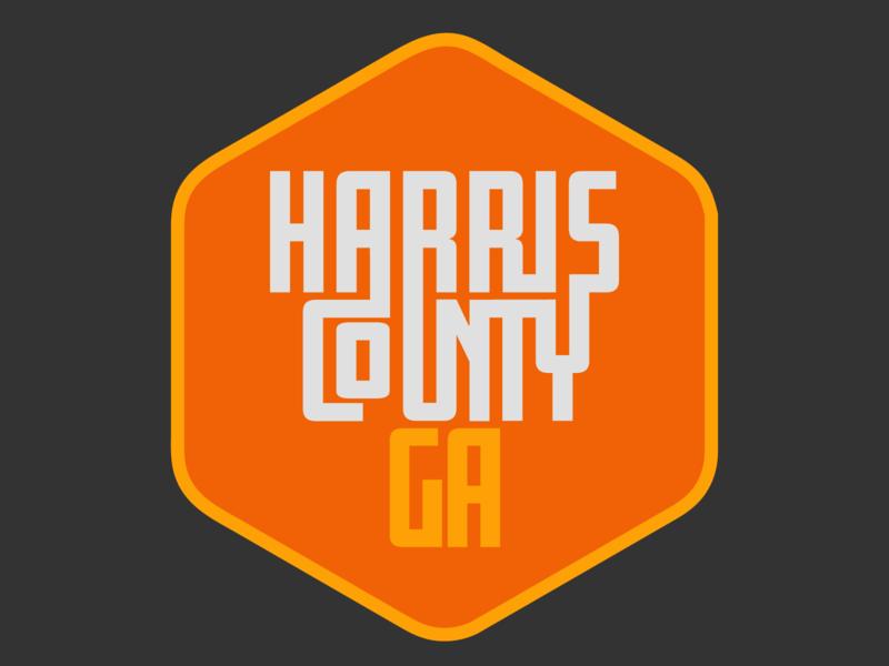 Harris County Ga Patch badge design branding typography yellow illustration orange beer vector patch