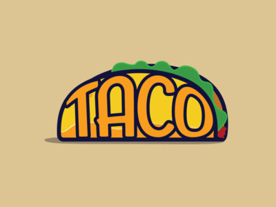 Taco Tuesday on a Friday taco tuesday taco bell mexican orange yellow design typography illustration vector logo taco