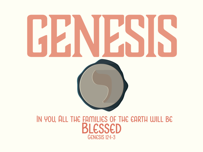 Genesis OT Survey typography pink red illustration vector seal genesis