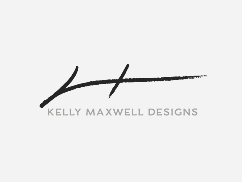Kelly Maxwell Designs logodesign branding white black grey vector illustrator design logo