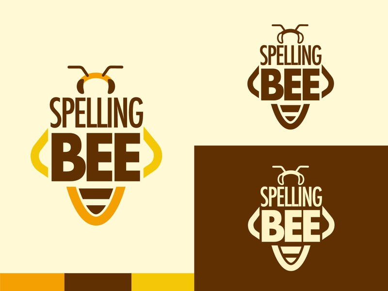 Spelling Bee design spellingbee spelling spelling bee bee brown orange yellow logo illustration vector