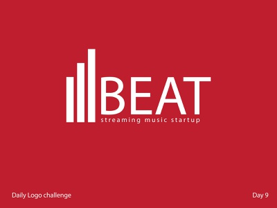 music startup streaming beat music day9 icon typography branding illustration vector logo dailylogochallenge