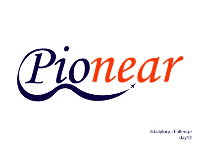 pionear flight fly airplane pioneer pionear day12 typography branding illustration design vector logo dailylogochallenge illustrator