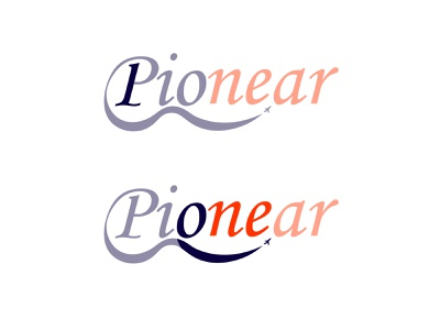 pionear logo concept flight flyer first one airplane day12 typography illustrator branding illustration design vector logo dailylogochallenge