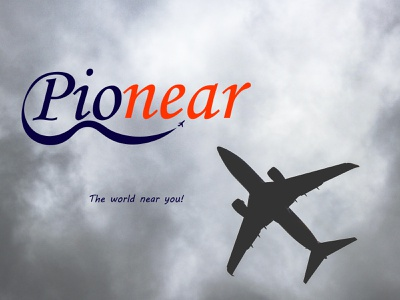 pionear publication fly air flight day12 airplane typography illustrator branding illustration design vector logo dailylogochallenge