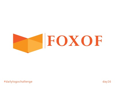foxof triangles geometric icon fox foxof day16 typography illustrator design branding vector logo dailylogochallenge
