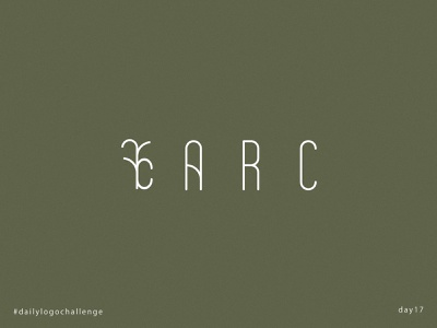 ARC logo background geometric day17 typography illustrator design branding vector dailylogochallenge logo arc architecture