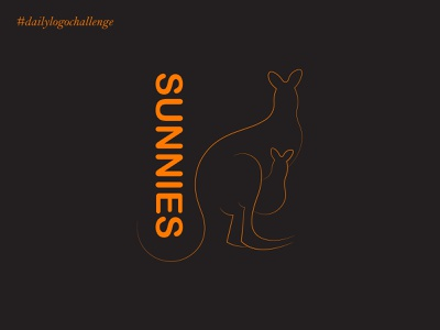 sunnies sportive sport icon illustration typography illustrator design branding vector kangaroo day19 dailylogochallenge dailylogo logo sunnies