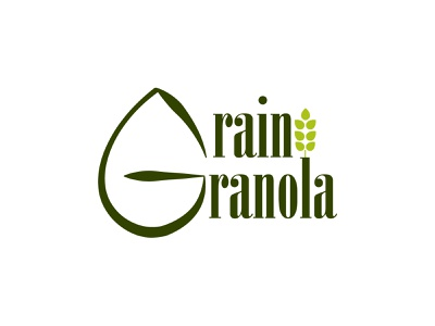 Grain Granola logo wheat natural green healthy fitness day21 typography illustrator design branding vector logo dailylogochallenge graphic design granola grain