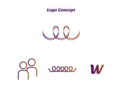 woven logo concept identity branding wire dailylogochallenge logo design people connecting communication concept logo