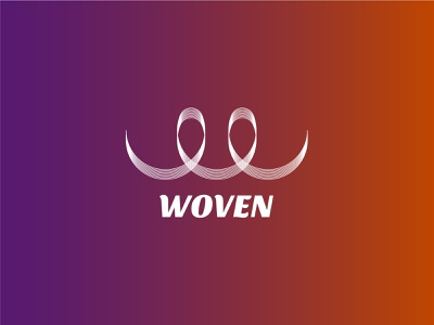 woven logo socialmedia elements identity woven graphic design communication wire people connecting dailylogo design vector branding logo dailylogochallenge