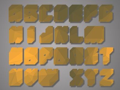 Easygitts Faceted Typeface wip type