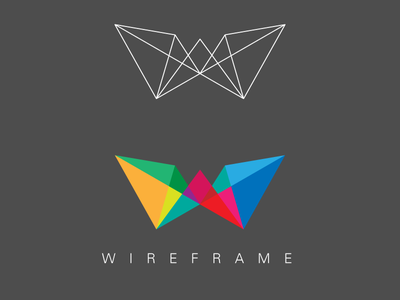Wireframe Logo 02 wireframe vectoraday
