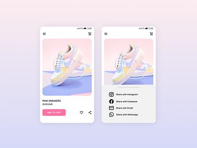 Daily UI #10 · Social Share mobile design dailyui010 ui dailyui design dailychallenge