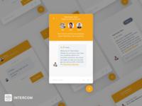 Intercom Messenger UI - Sketch file sketch messenger intercom