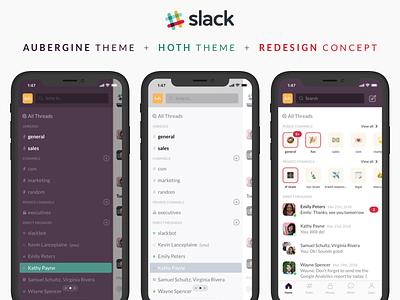Slack iPhone UI + Redesign Concept redesign ux ui slack prototyping sketch