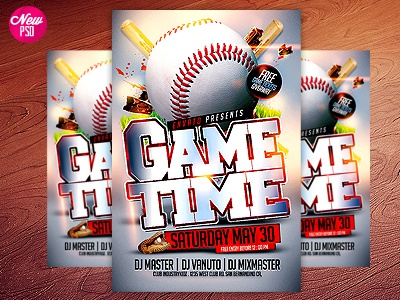Baseball Psd Flyer Template By Industrykidz  Dribbble