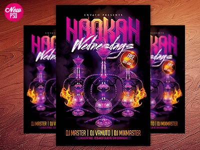 Tags / Hookah Lounge Flyer - Dribbble