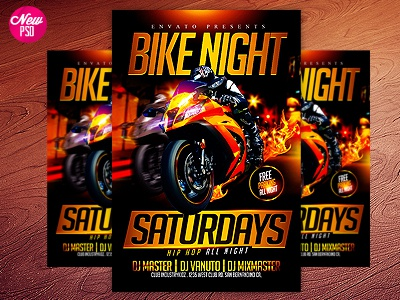motorcycle psd flyer can be