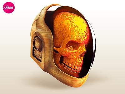 Daft Punk Skull Free Materials cinema4d daftpunk free freebie materials shaders cgi icon app daft punk