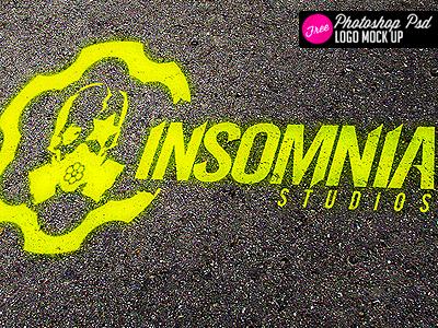 free logo mock up spray paint psd by industrykidz dribbble dribbble