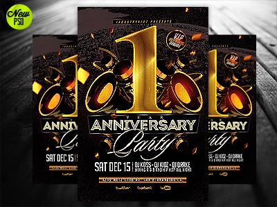 Anniversary Party Flyer Template By Industrykidz - Dribbble