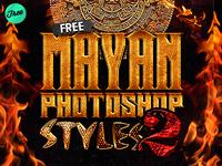 Free Mayan Photoshop Layer Styles V2