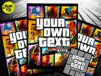 Free Grand Theft Auto Cover Psd