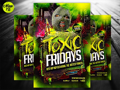 Toxic Hip Hop Flyer Template Psd By Industrykidz Dribbble