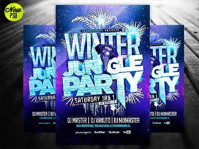 winter jungle party flyer template psd by industrykidz dribbble
