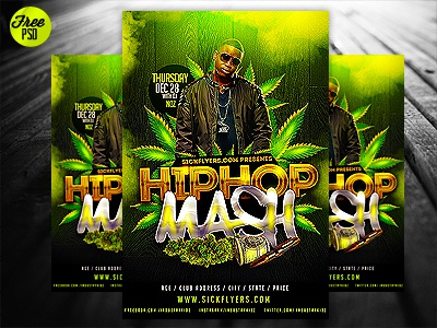 Free psd mixtape cover flyer template by industrykidz dribbble feekx maxwellsz