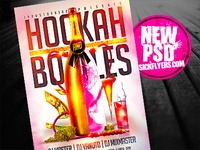 Hookah And Bottles Psd Flyer Template