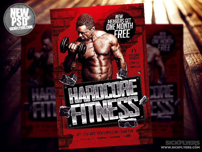 gym flyer template psd by industrykidz dribbble dribbble