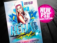 Rehab Party Flyer Template PSD