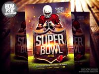Super Bowl Flyer Template PSD