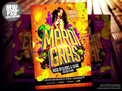 Mardi Gras Flyer Template Psd By Industrykidz Dribbble