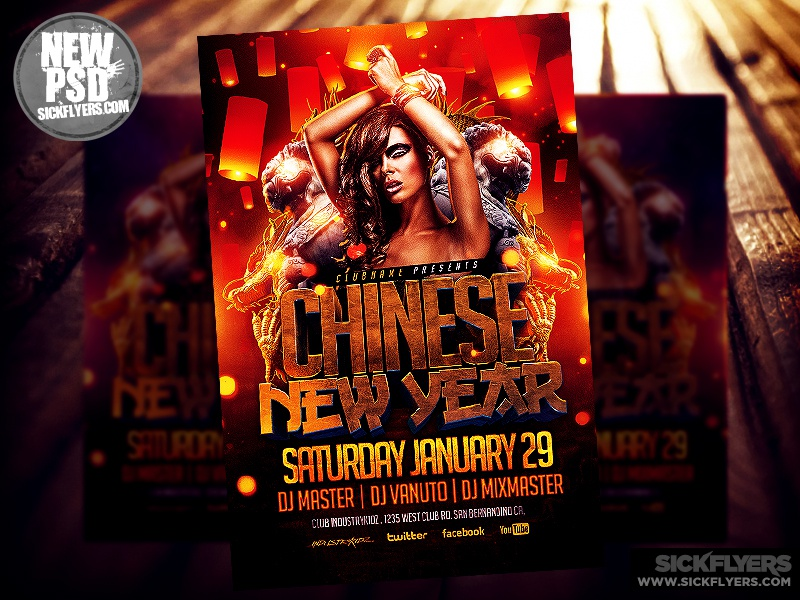 chinese new year flyer template psd chinese new year flyer template psd