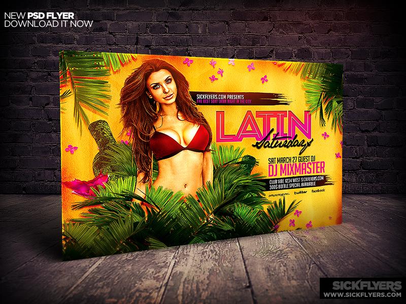 Latin Night Horizontal Flyer Template by Industrykidz ...