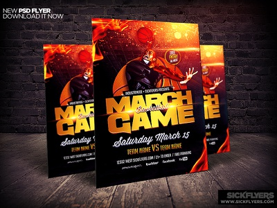 March Madness Basketball Flyer Template march madness basketball flyer template
